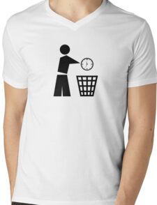 Throw away your time Mens V-Neck T-Shirt