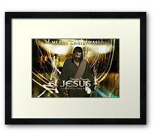 Jesus, Merry Christmas! Framed Print