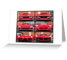 Ferrari Icons Greeting Card
