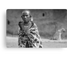 Masaai Elder  Canvas Print