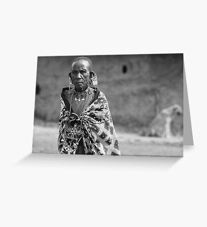 Masaai Elder  Greeting Card