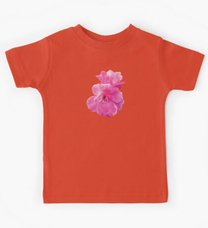 Two Pink Roses in Autumn Kids Tee