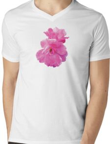 Two Pink Roses in Autumn Mens V-Neck T-Shirt
