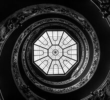 Vatican Museum Spiral Staircase by Simon Marsden