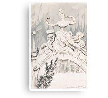 Adolf Oberländer or Oberlander A baroque sculpture forming an allegory Canvas Print