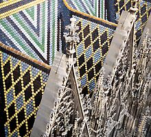 St. Stephan's Roof - Vienna, Austria by Robert Kelch, M.D.