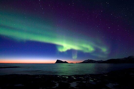 Aurora Borealis over Haja island -II by Frank Olsen