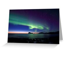 Aurora Borealis over Haja island -II Greeting Card