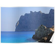 Mountains north of the balearic islands Poster