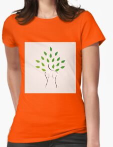 Skin and hair treatment with organic products Womens Fitted T-Shirt