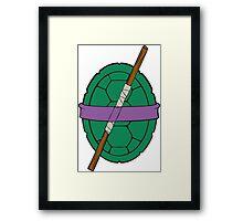 TMNT - Donatello Shell Framed Print