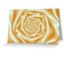 Orange Rose Spiral Greeting Card