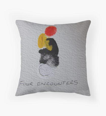 Four Encounters Throw Pillow