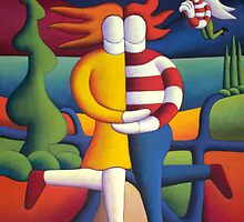 Moonlite lovers avec angel by Alan Kenny