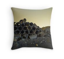 Barrels at Night Throw Pillow