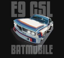 BMW E9 CSL BATMOBILE 'GHOST TITLE' (Dark Material) by Sharknose