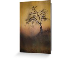 Wait by the tree for me Greeting Card