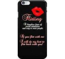 Flirting 1 iPhone Case/Skin