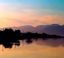 The stillness of morning  by larry flewers