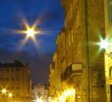 Lvov at night Sticker