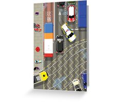 Red and Blue Lights Greeting Card