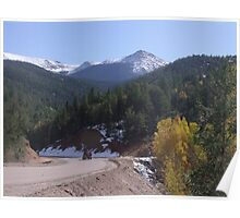 Cripple Creek after first snow fall Poster