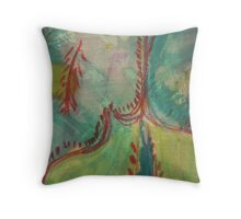 V&A Museum piece in mixed media 6 Earthenware Textile Throw Pillow