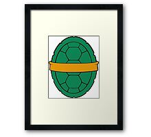 TMNT - Michelangelo Shell Framed Print
