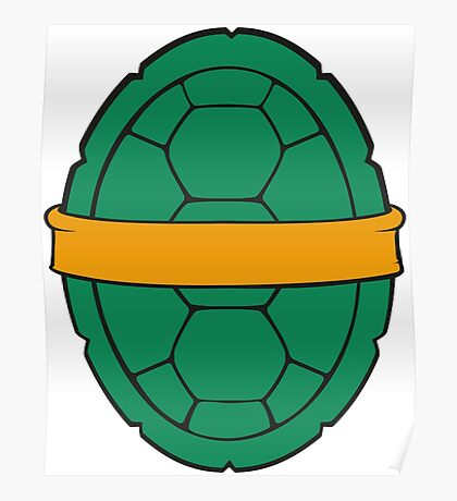 TMNT - Michelangelo Shell Poster