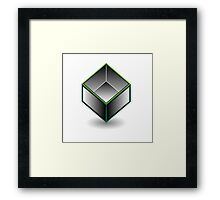 Hollow cube Framed Print