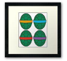TMNT - Shells Framed Print