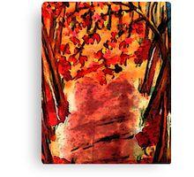 Fall is in the air!  watercolor Canvas Print