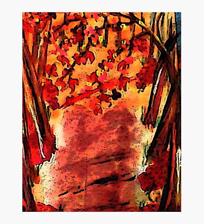 Fall is in the air!  watercolor Photographic Print
