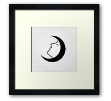 Lady in a moon Framed Print