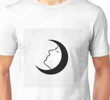 Lady in a moon Unisex T-Shirt
