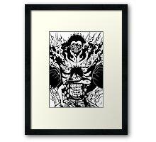 Luffy Gear 4 Transformation Framed Print