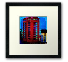 Red Phone Boxes Framed Print
