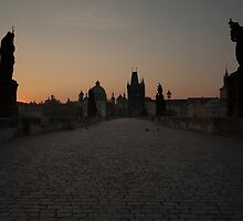 Charles Bridge Prague by Maria Heyens