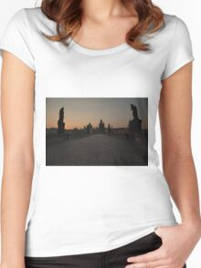 Charles Bridge Prague Women's Fitted Scoop T-Shirt