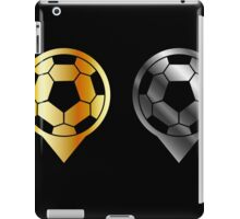 Footballs inside gold and silver placement- football stadium symbol  iPad Case/Skin