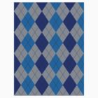 Blue and Gray Argyle by ValeriesGallery