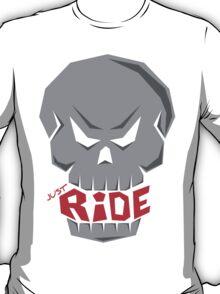 SKULL: JUST RIDE (Gray Skull) T-Shirt