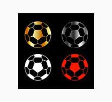 Footballs on black background  Unisex T-Shirt