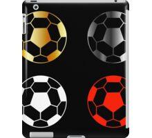 Footballs on black background  iPad Case/Skin