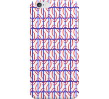 Red blue pattern iPhone Case/Skin