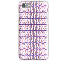 Red blue pattern iPhone Case/Skin