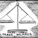 Gilad Shalit Palestinian Prisoner Swap cartoon by bubbleicious