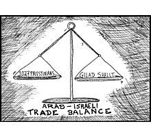 Gilad Shalit Palestinian Prisoner Swap cartoon Photographic Print