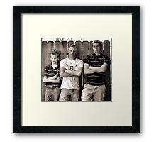 Tough Boys Framed Print
