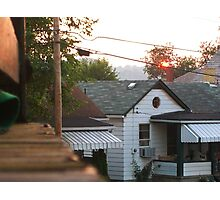 Porch Sunset Photographic Print